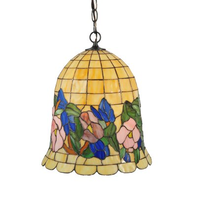 Pansies 1-Light Bowl Pendant