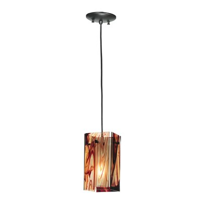 Metro Cabernet Swirl Quadrato 1-Light Mini Pendant