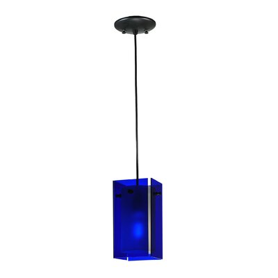 Metro Quadrato 1-Light Mini Pendant Shade Color: Blue