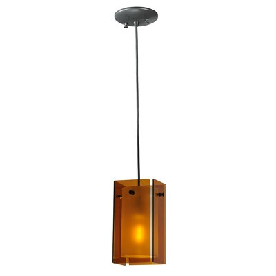 Metro 1-Light Mini Pendant Shade Color: Amber