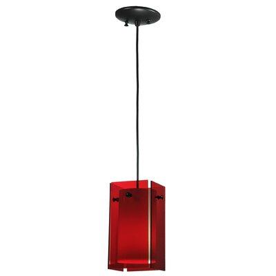 Metro 1-Light Mini Pendant Shade Color: Red