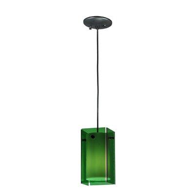Metro 1-Light Mini Pendant Shade Color: Green