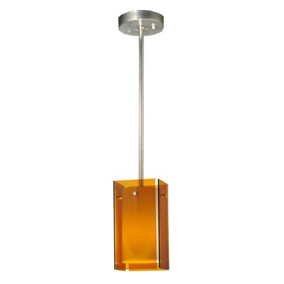 Metro Quadrato 1-Light Mini Pendant Shade Color: Amber