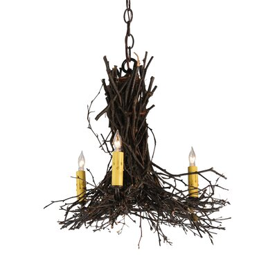 Twigs 3-Light Candle-Style Chandelier