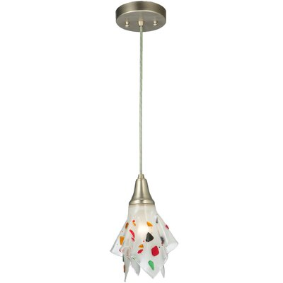 Metro Fusion Pebbles Handkerchief 1-Light Mini Pendant