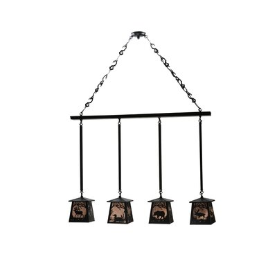 Wildlife at Pine Lake  4-Light Kitchen Island Pendant