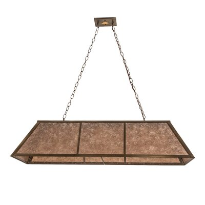 Tri-Panel 9-Light Billiard Pendant Size: 44 H x 48 W x 17 D