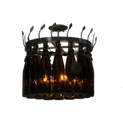 Greenbriar Oak 16-Light Drum Chandelier