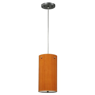 Greenbriar Oak 1-Light Drum Pendant