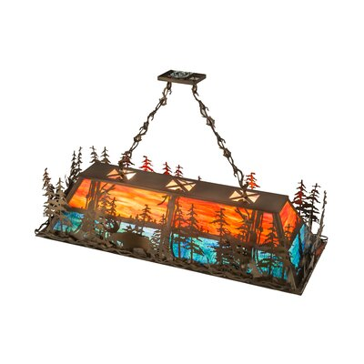Moose Through the Trees 9-Light Pendant