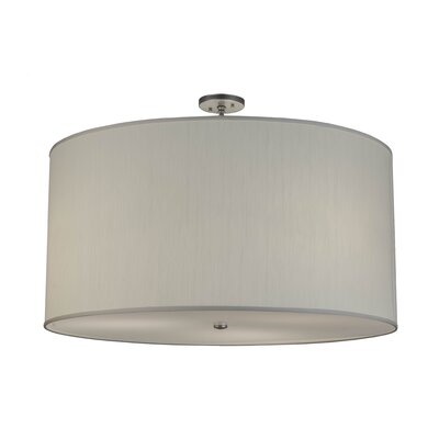 Greenbriar Oak 3-Light Semi-Flush Mount