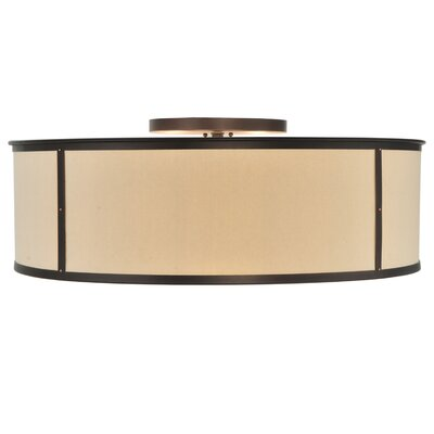 Greenbriar Oak 6-Light Flush Mount