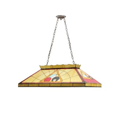 Greenbriar Oak Billiard and Rack 9-Light Pendant