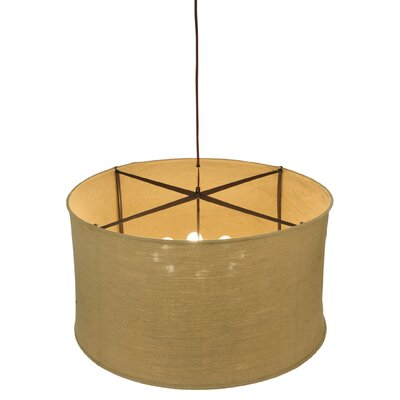Greenbriar Oak Cilindro Textrene 8-Light Drum Pendant