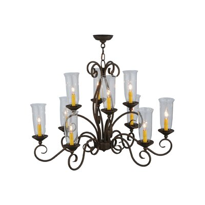 Greenbriar Oak Wallis 10-Light Candle-Style Chandelier