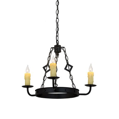 Greenbriar Oak Elvita 3-Light Candle-Style Chandelier