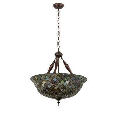 Tiffany Fishscale 3-Light Inverted Pendant