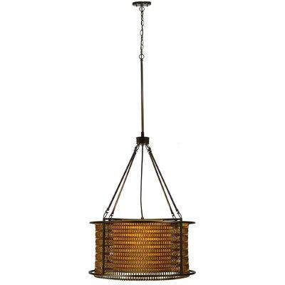 Greenbriar Oak Maille 4-Light Drum Pendant Size: 64 H x 24 W x 24 D