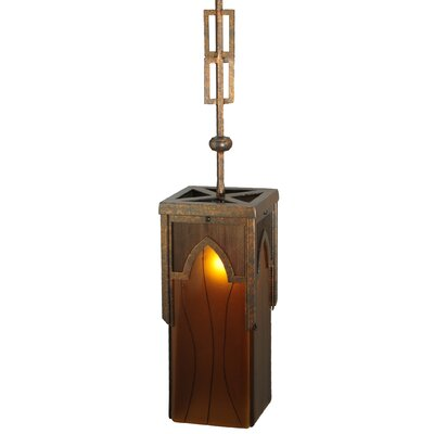 Greenbriar Oak Cordoba 1-Light Mini Pendant Size: 125 H x 6.5 W x 6.5 D
