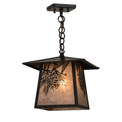 Stillwater Winter Pine 1-Light Mini Pendant Size: 19.5 H x 17 W x 12 D