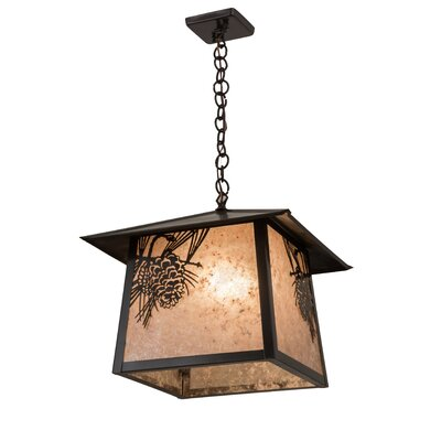 Stillwater Winter Pine 1-Light Mini Pendant Size: 28.5 H x 23.5 W x 16.5 D