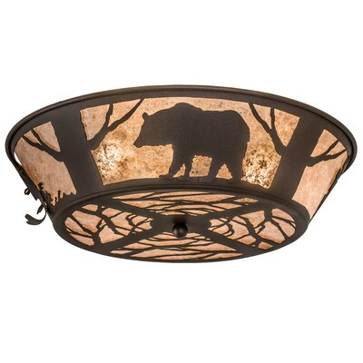 Wildlife on the Loose 4-Light Flush Mount