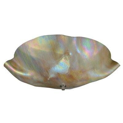 Metro Iridescent Organic Art Glass 3-Light Flush Mount