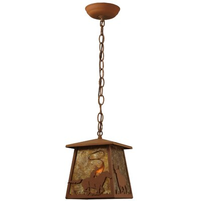 Cowboy and Steer 1-Light Pendant