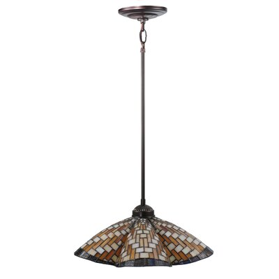 Basket Weave 1-Light Pendant