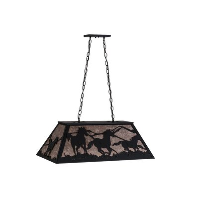 Wild Horses 6-Light Billiard Pendant Finish: Black