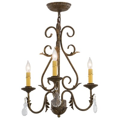 French Elegance 3-Light Candle-Style Chandelier