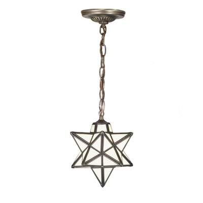 Moravian Star 1-Light Mini Pendant Shade Color: Cloud White