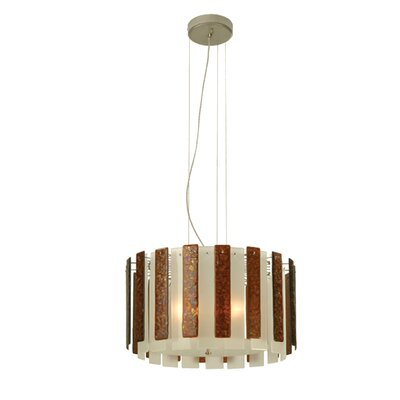 Metro Fusion Cascata 3-Light Drum Chandelier