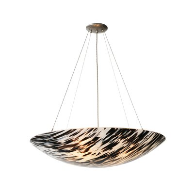 La Perla Nera Fused Glass 4-Light Inverted Pendant