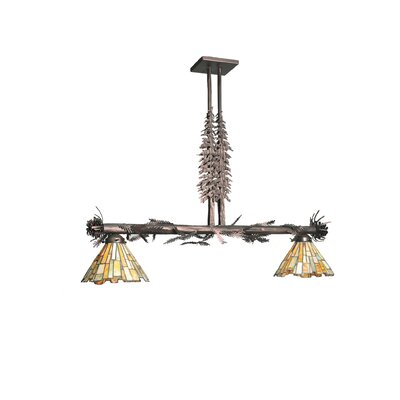 Jadestone Delta Tall Pines 2-Light Kitchen Island Pendant