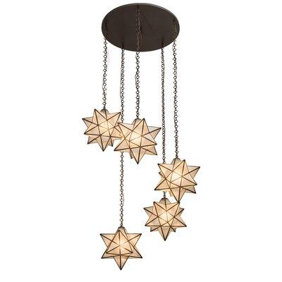 Moravian Star 5-Light Cascade Pendant