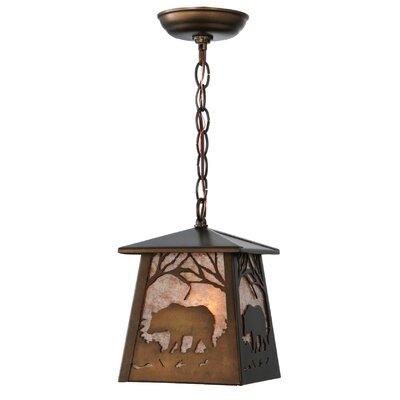 Bear at Dawn 1-Light Mini Pendant