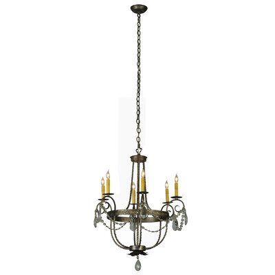 Antonia 6-Light Candle-Style Chandelier