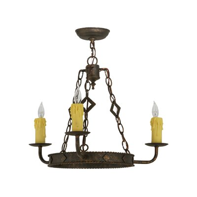Elvita 3-Light Candle-Style Chandelier