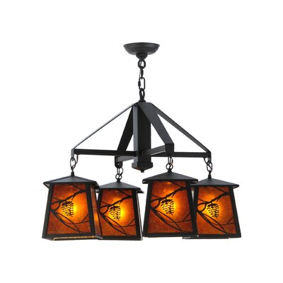 Whispering Pines 4-Light Shaded Chandelier Finish: Oil Rubbed Bronze