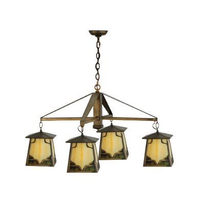 Kirkpatrick 4-Light Shaded Chandelier