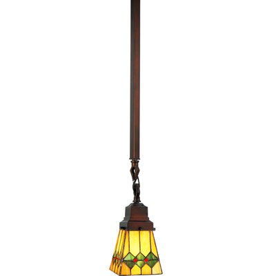 Mission 1-Light Mini Pendant Size: 29 H x 5 W x 5 D