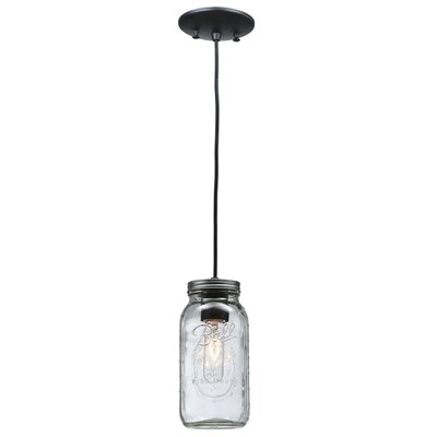 Mason Jar 1-Light Mini Pendant