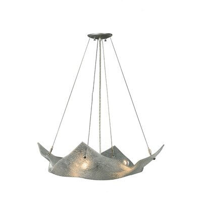 Metro Fusion Lunar Crinkle 4-Light Inverted Pendant