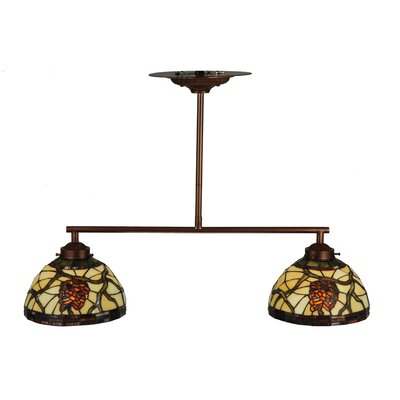 Pinecone Dome 2-Light Kitchen Island Pendant