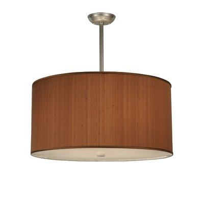 Cilindro Brown Textrene 4-Light Drum Pendant