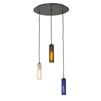 Venice Wine Bottle 3-Light Cascade Pendant