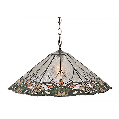 Tulip and Fleurs 1-Light Bowl Pendant