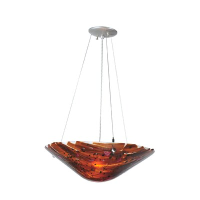 Metro Fusion Torta 3-Light Inverted Pendant