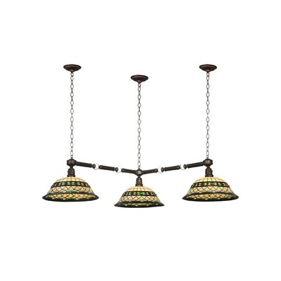 Greenbriar Oak Tiffany Roman 3-Light Island Pendant